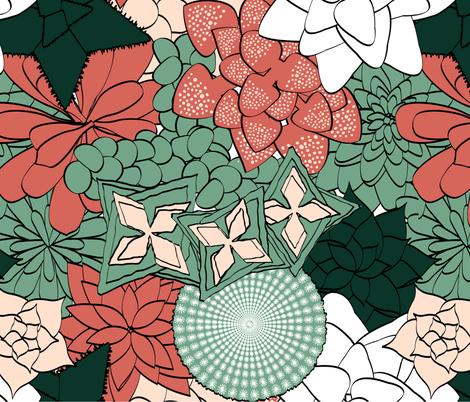 Spring Succulents fabric by carolyn_cameron on Spoonflower - custom fabric