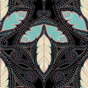 Nightfeathers desert damask
