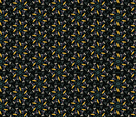 Space Battle 1 fabric by the_wookiee_workshop on Spoonflower - custom fabric