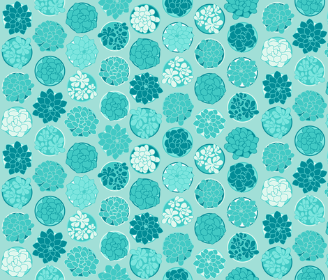 Succulents fabric by moderntikilounge on Spoonflower - custom fabric