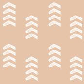 Peach Tribal Arrows
