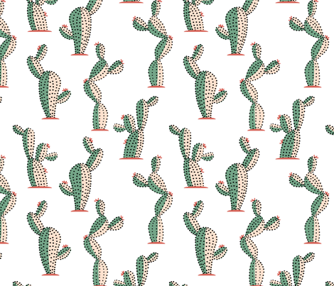 prickly affair fabric by lilalunis on Spoonflower - custom fabric