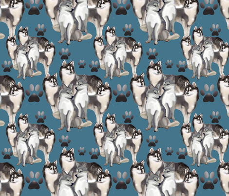 Alaskan Klee Klai fabric fabric by dogdaze_ on Spoonflower - custom fabric