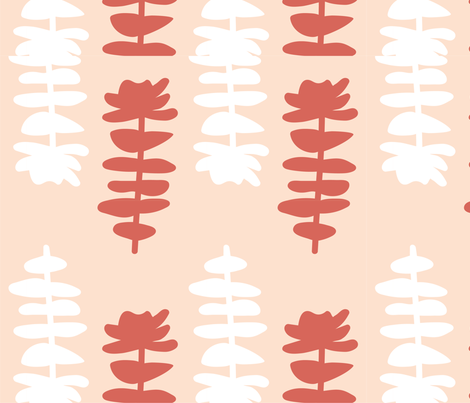coral-succulent-sp-ps fabric by artbint on Spoonflower - custom fabric
