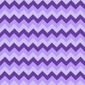 Collared portrait chevron coordinate - purple