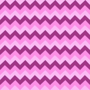Collared portrait chevron coordinate - pink