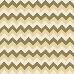 Collared portrait chevron coordinate - tan