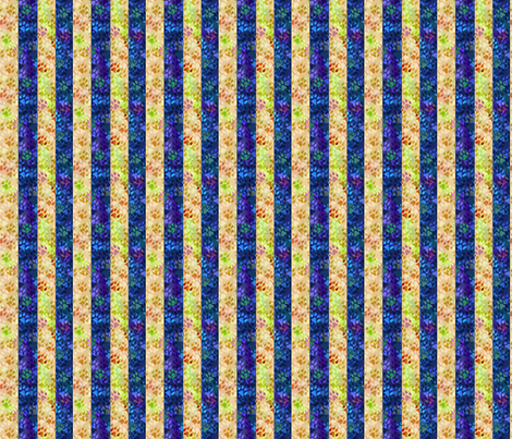 Cosmic dog paw prints vertical stripes - night and day fabric by rusticcorgi on Spoonflower - custom fabric