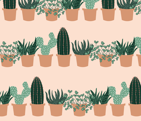 succulent_shelves fabric by ravnorr on Spoonflower - custom fabric