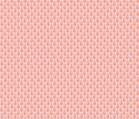 Feather Leaf - Coral and Pink fabric by jillbyers on Spoonflower - custom fabric