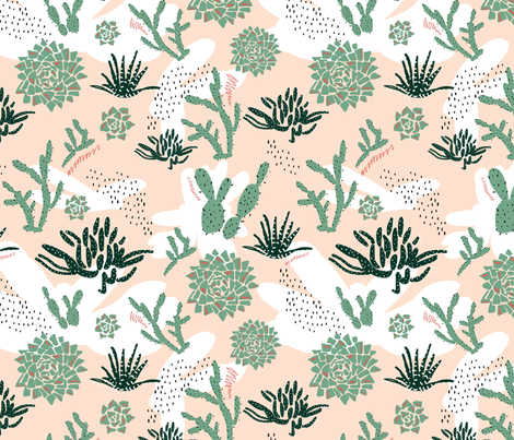 Abstract Succulent Garden fabric by radianthomestudio on Spoonflower - custom fabric