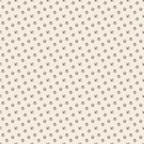 Tiny dog paw prints coordinate - tan