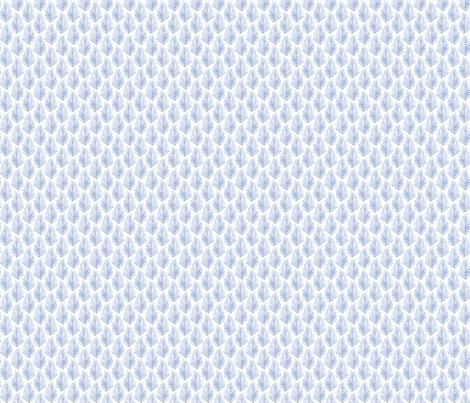 Feather Leaf - Serenity fabric by jillbyers on Spoonflower - custom fabric