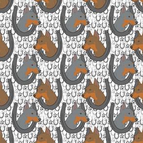 German Pinscher horseshoes C
