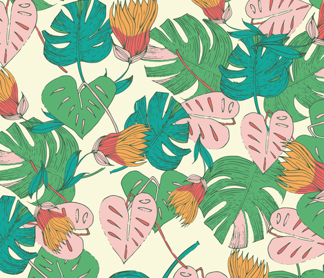 Tropical Foliage fabric by patriciasodre on Spoonflower - custom fabric