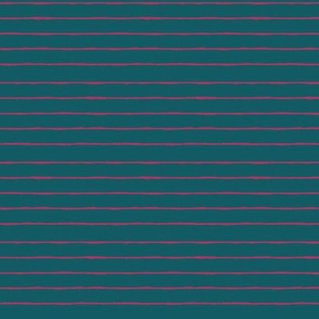 teal/fuschia mini stripe