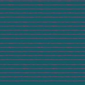 teal/fuschia mini stripe