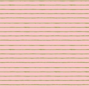 pink/bright green mini stripe