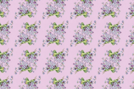 Watercolor Violets fabric by undertheleafdesigns on Spoonflower - custom fabric