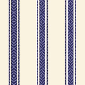 Modern Ticking Stripe-navy/off white -Med