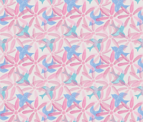 Signs of Spring fabric by woolandtie on Spoonflower - custom fabric