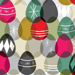 Mid-century Modern Easter eggs