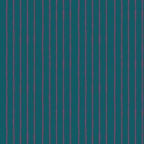 teal/fuschia mini stripe - vertical