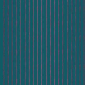 teal/fuschia mini stripe - vertical