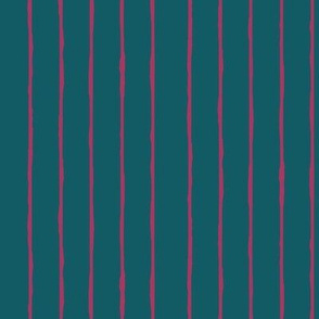 teal/fuschia stripe - vertical
