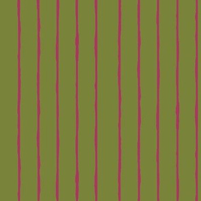 green/fuschia stripe - vertical