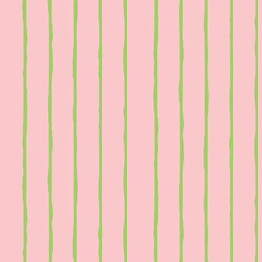 pink/green stripe - vertical