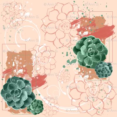 Green Thumb Succlent Pattern