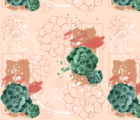 Green Thumb Succlent Pattern fabric by gnarllymamadesigns on Spoonflower - custom fabric