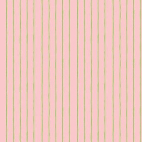 pink/bright green mini stripe -vertical