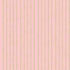 pink/bright green mini stripe -vertical