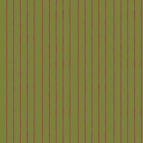 green/fuschia mini stripe-vertical