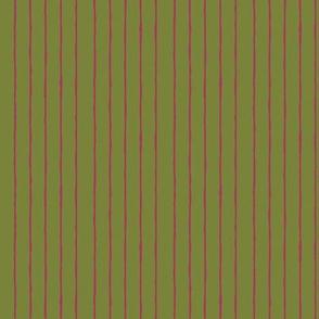 green/fuschia mini stripe-vertical