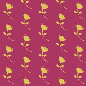 single protea - fuschia/yellow - med scale