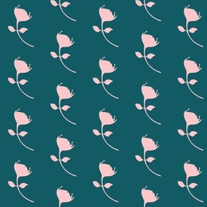 single protea - teal/pink - med scale