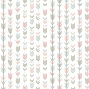 Arrow Feathers - smallscale - Pastels