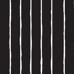 black and white hand drawn stripe-vertical