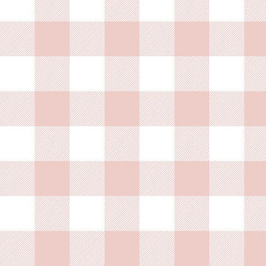 "1"" Buffalo Plaid - Blush Pink"