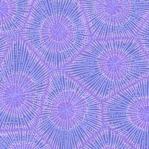 coral pattern in purple
