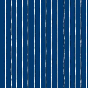 swim lane stripe in nautical blue-vertical