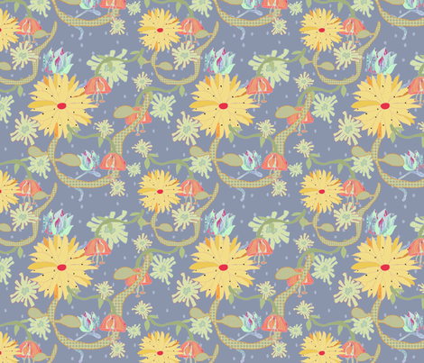 summer in the garden fabric by alphabetsoup on Spoonflower - custom fabric