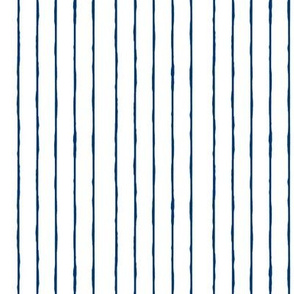 swim lane stripe in white/navy -vertical