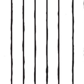 white and black hand drawn stripe-vertical