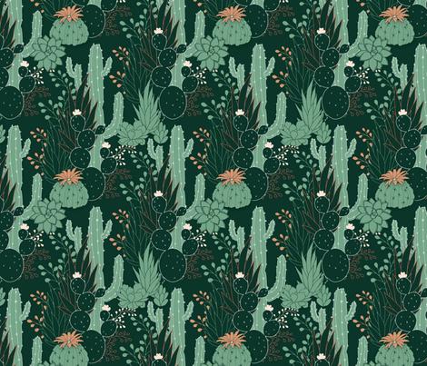 Succulence fabric by j9design on Spoonflower - custom fabric