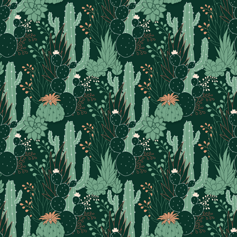 Succulence fabric by j9design on Spoonflower - custom fabric