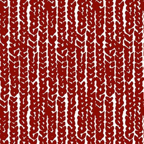 chunky knit in red on white-vertical